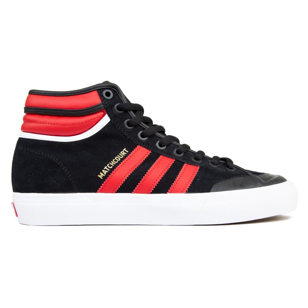 adidas Skateboarding Matchcourt High RX2 (Core Black/Scarlet/Footwear White)