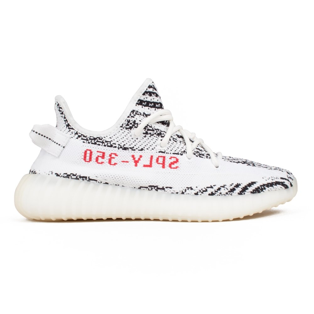 adidas YEEZY BOOST 350 V2 'Zebra' (White/Core Black/Red)