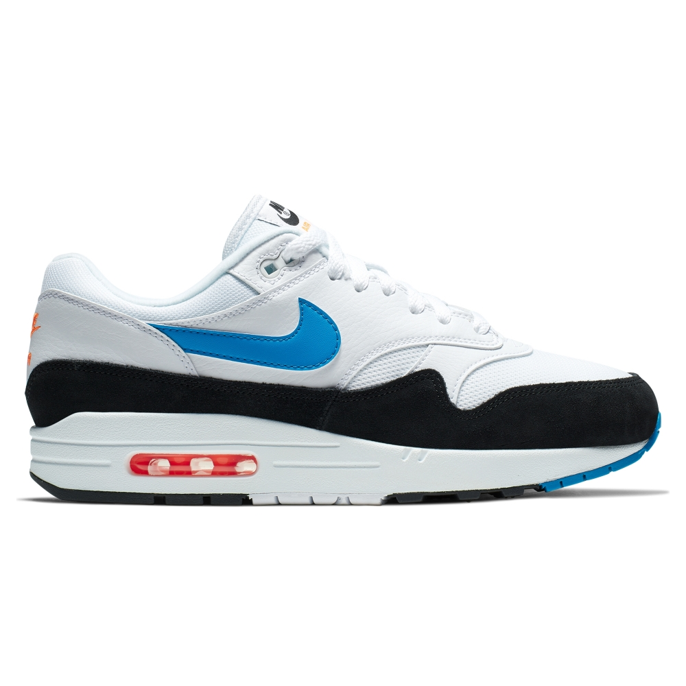 Nike Air Max 1 'Photo Blue' (White/Photo Blue-Total Orange-Black)