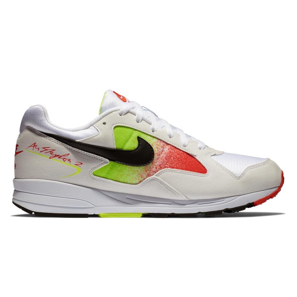 Nike Air Skylon II (White/Black-Volt-Habanero Red)