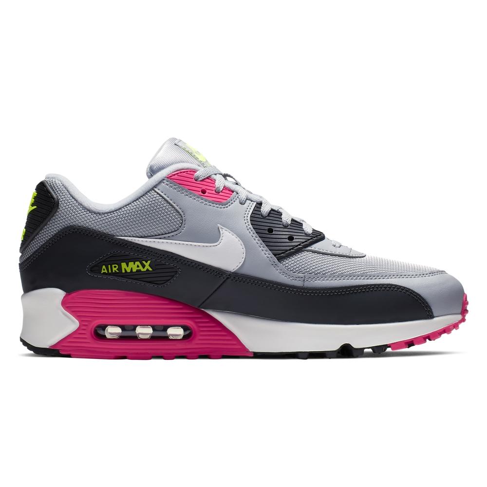 Nike Air Max '90 Essential (Wolf Grey/White-Rush Pink-Volt)