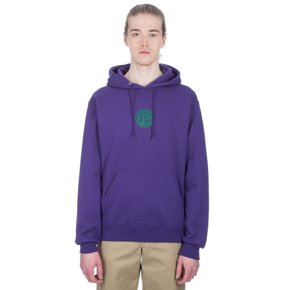 Alltimers Hacker Pullover Hooded Sweatshirt (Dark Purple)