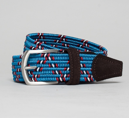 Anderson's Plaited Elasticated Belt (Red/White/Blue/Navy/Black)