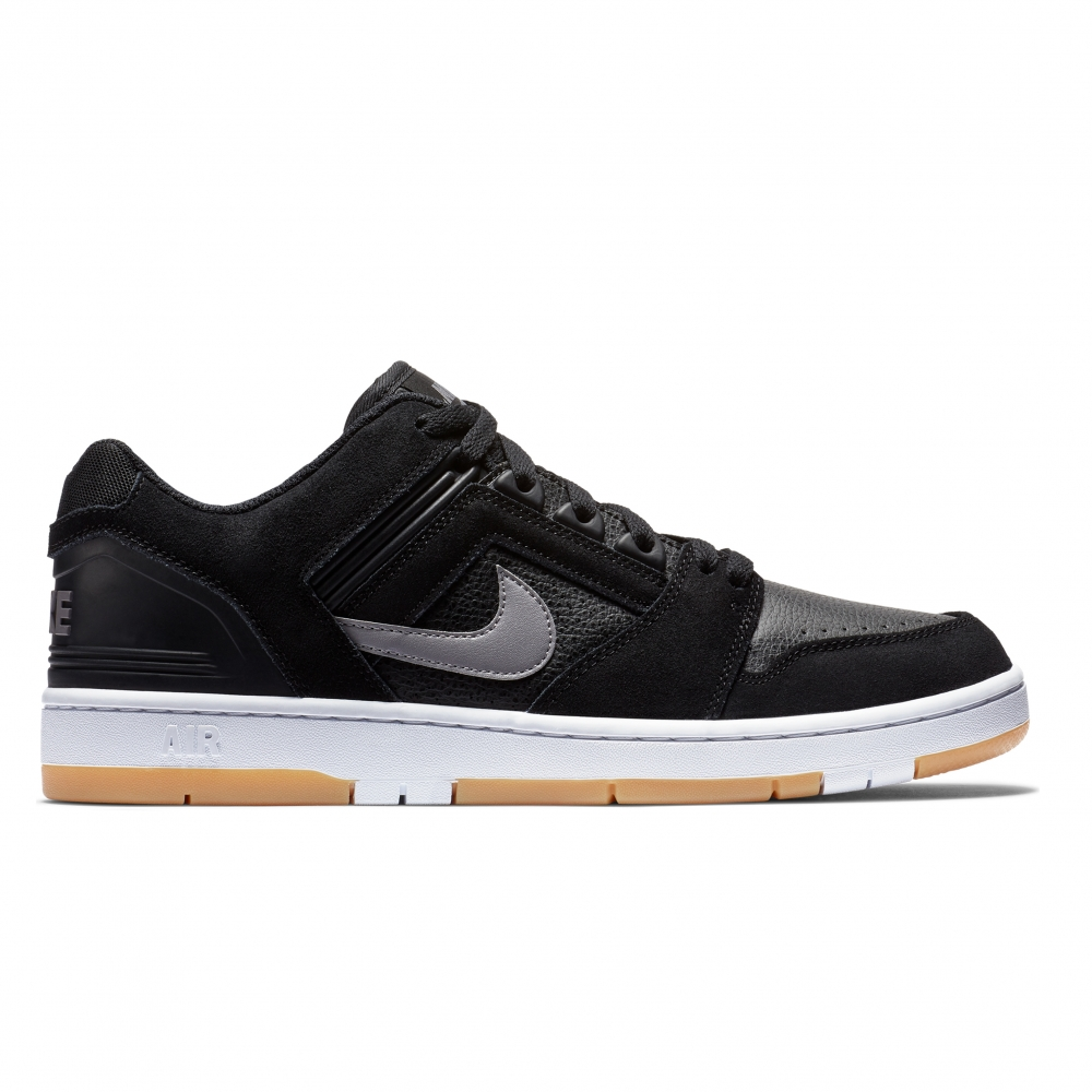 Nike SB Air Force II Low (Black/Gunsmoke-White-Gum Light Brown)
