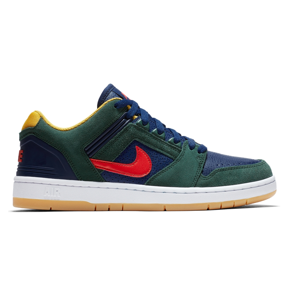 Nike SB Air Force II Low 'Rugby' (Midnight Green/Habanero Red-Blue Void)