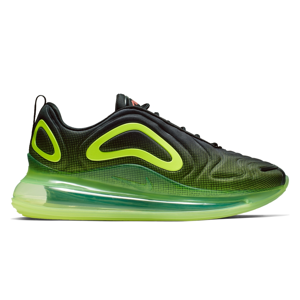 Nike Air Max 720 'Neon Black' (Black/Bright Crimson-Volt)