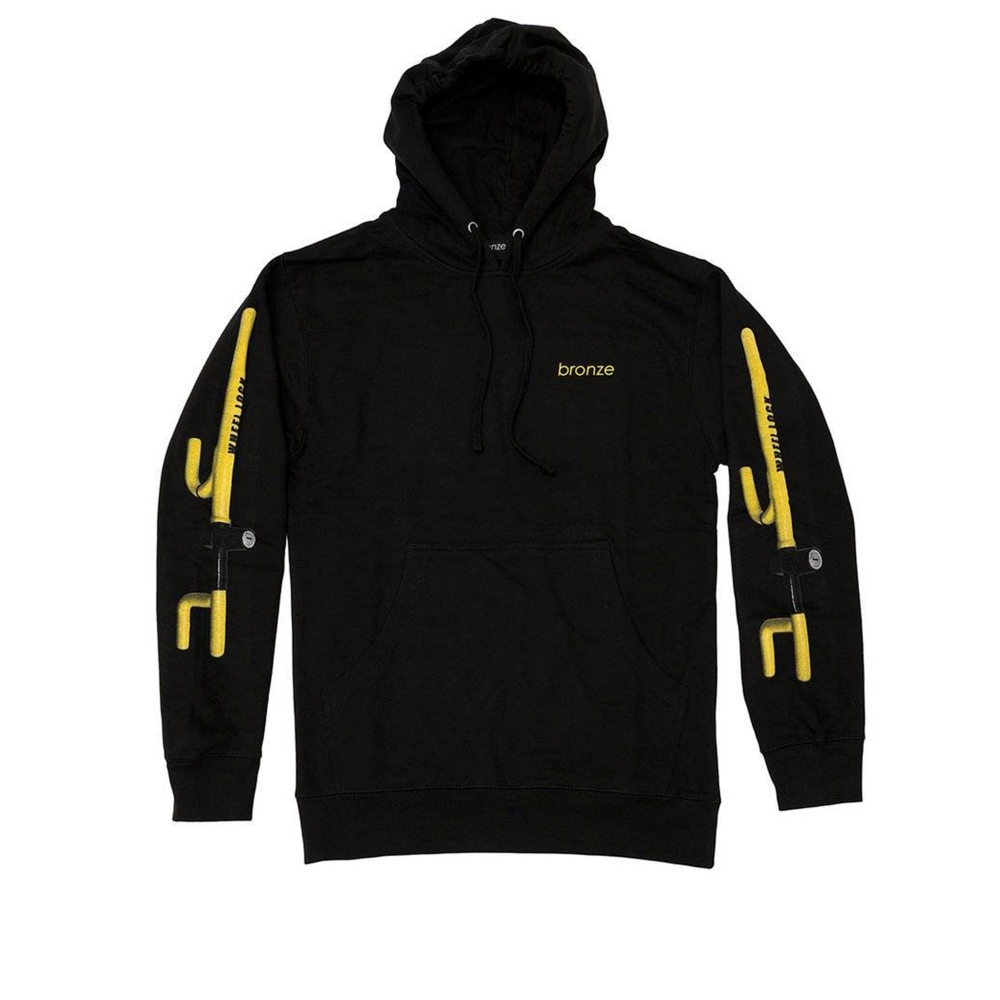 Bronze 56k The Club Pullover Hooded Sweatshirt (Black)