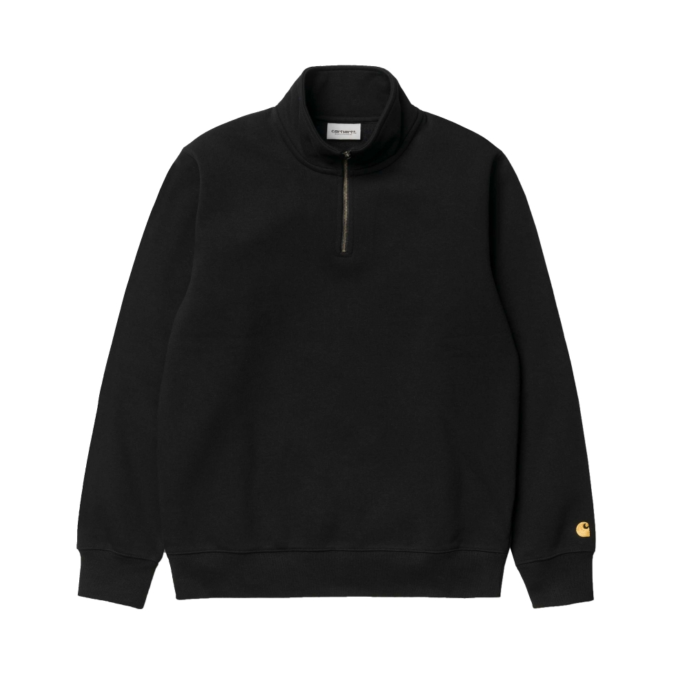 Carhartt Highneck Quarter Zip Sweatshirt (Black/Gold)