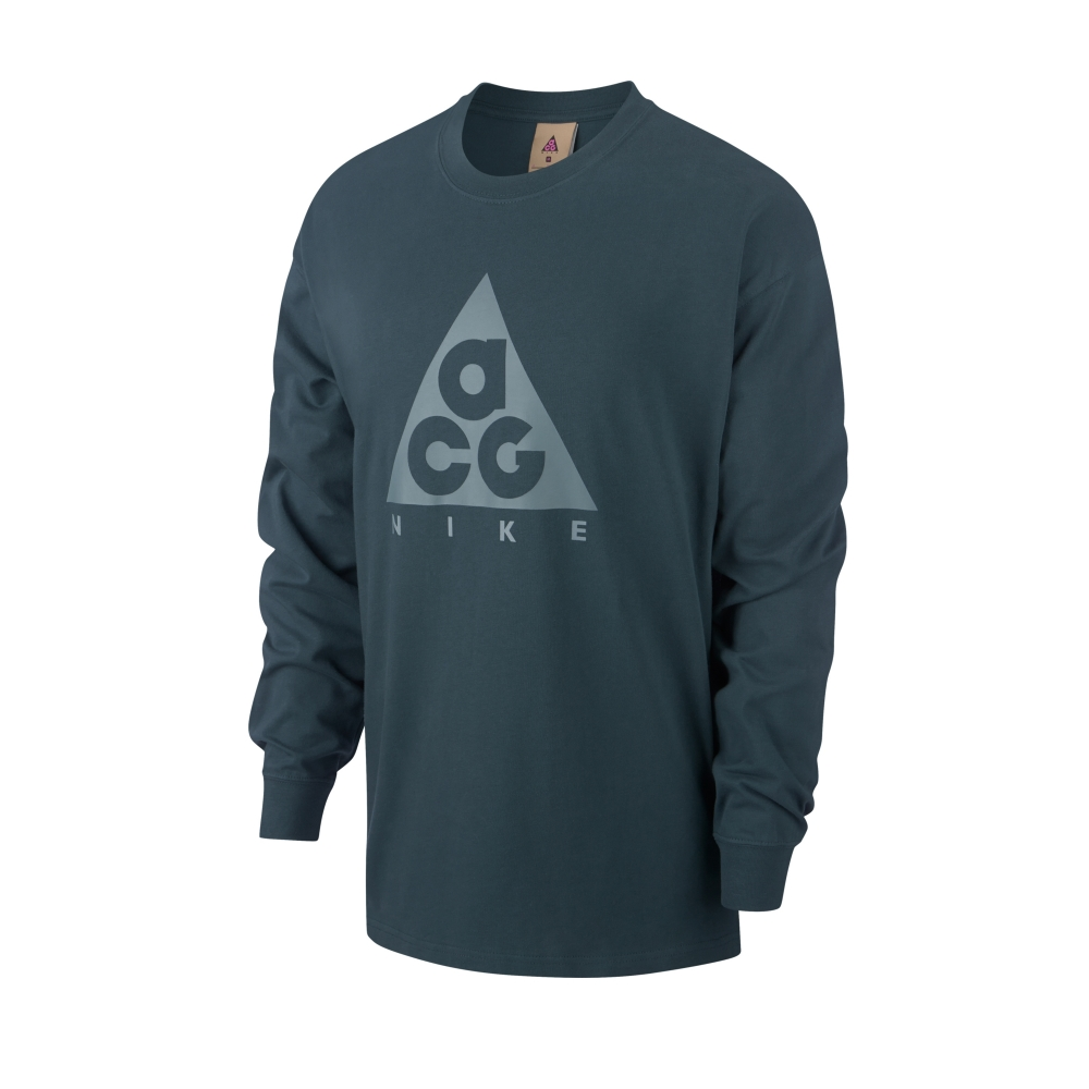 Nike ACG NRG Logo Long Sleeve T-Shirt (Deep Jungle/Aviator Grey)