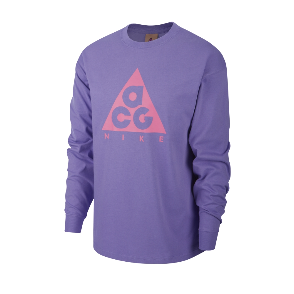 Nike ACG NRG Logo Long Sleeve T-Shirt (Space Purple/Lotus Pink)