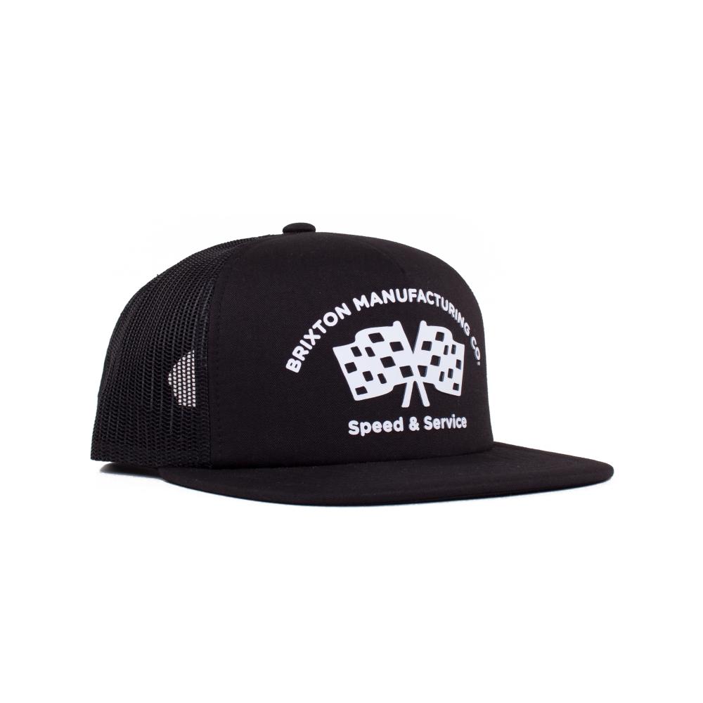 Brixton Burnout Mesh Trucker Cap (Black)