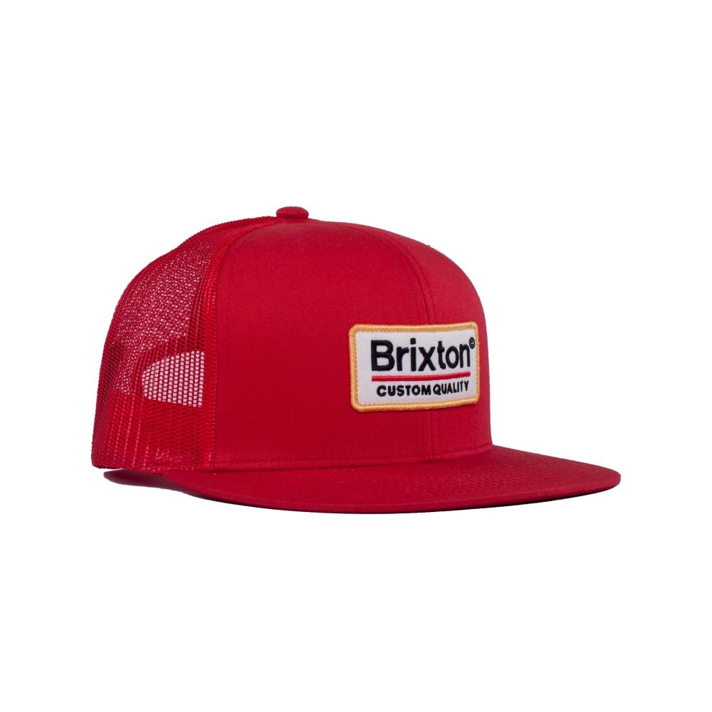 Brixton Palmer Mesh Trucker Cap (Red)