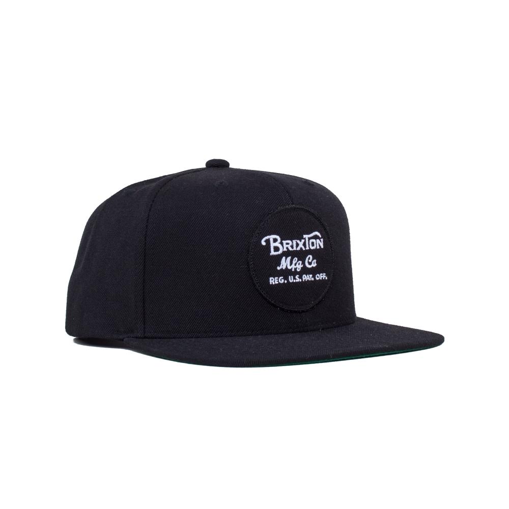 Brixton Wheeler Snapback Cap (Black)