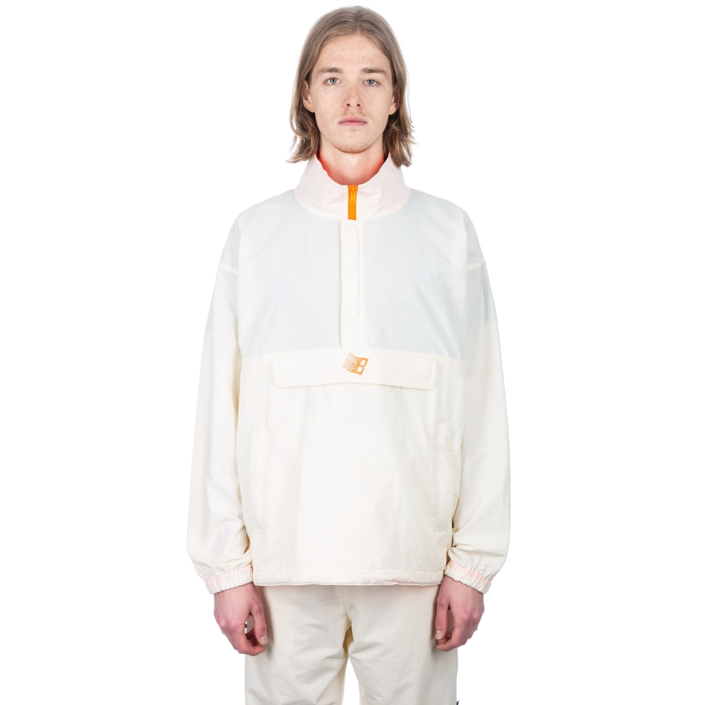 Bronze 56k Half-Zip Jacket (Off White/Neon Orange)