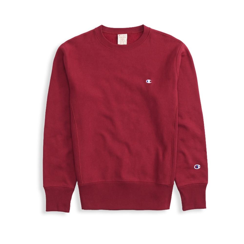 Champion Reverse Weave Crew Neck Sweatshirt (Burgundy)