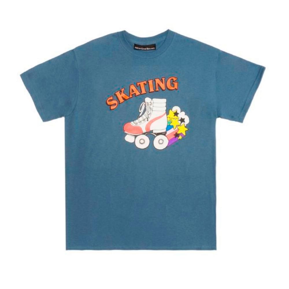 Call Me 917 Skate or Die T-Shirt (Blue)