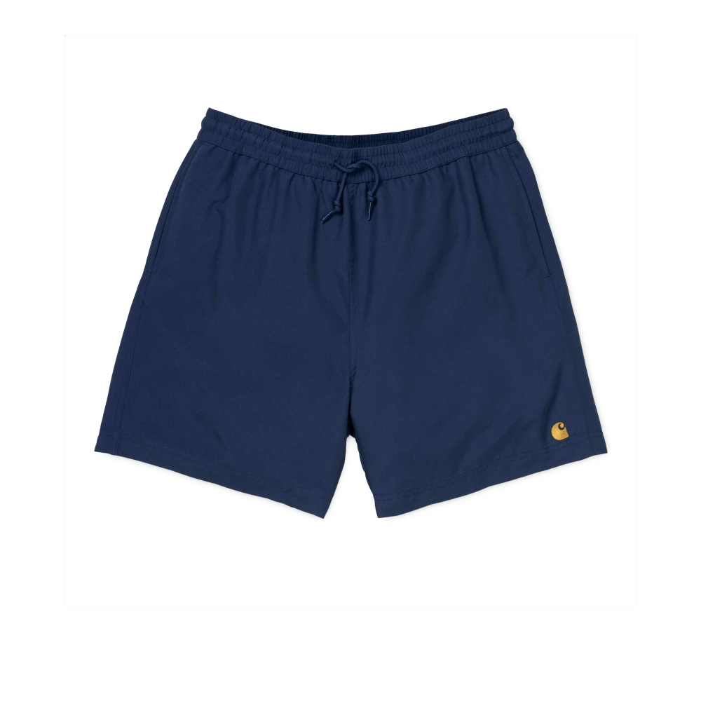 Carhartt Chase Swim Trunks (Metro Blue/Gold)