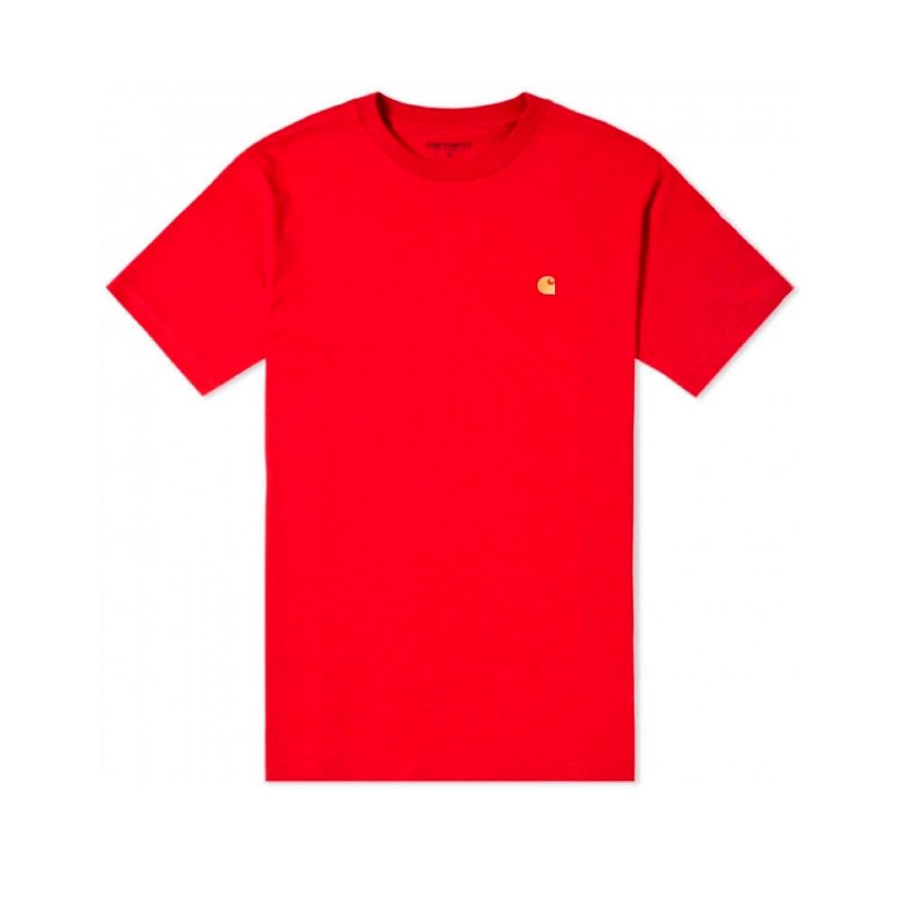 Carhartt Chase T-Shirt (Cardinal/Gold)
