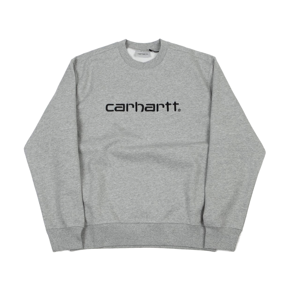 Carhartt Crew Neck Sweatshirt (Grey Heather/Black)