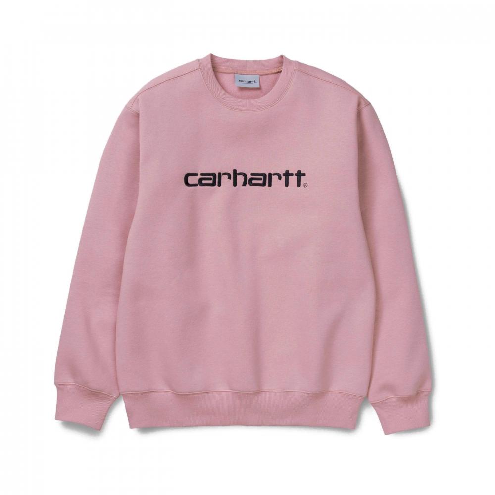 Carhartt Crew Neck Sweatshirt (Blush/Black)