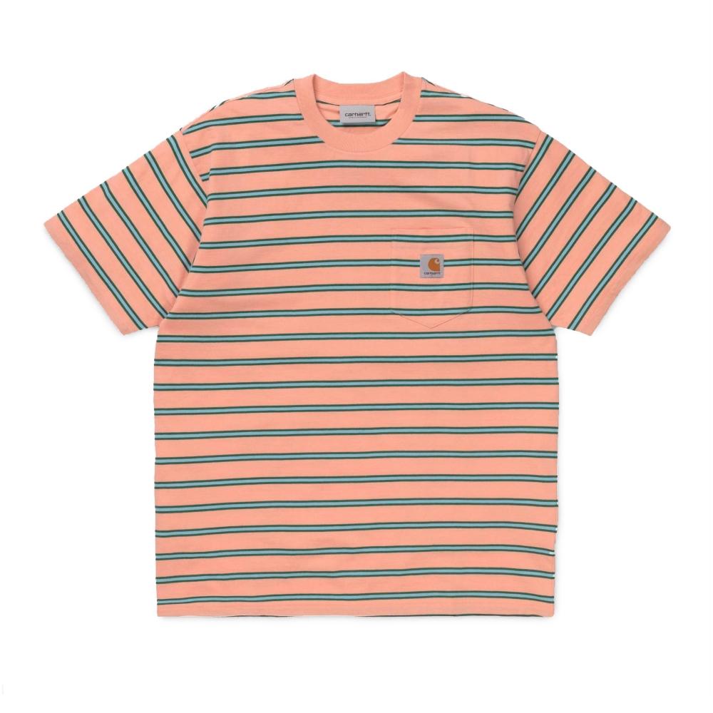Carhartt Houston Pocket T-Shirt (Houston Stripe 434094610165