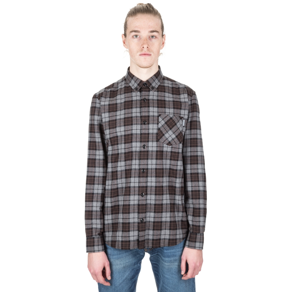 Carhartt Norton Long Sleeve Shirt (Check Dark Grey Heather)