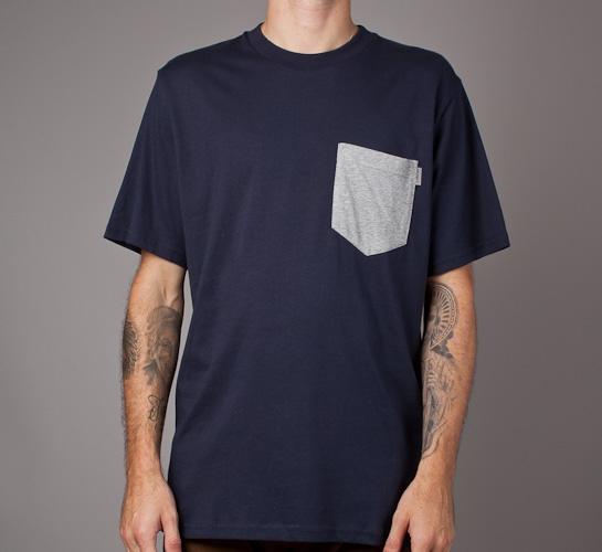 f863a9faa1 Carhartt S/S Contrast Pocket T-Shirt (Navy/Heather Grey) - Consortium.