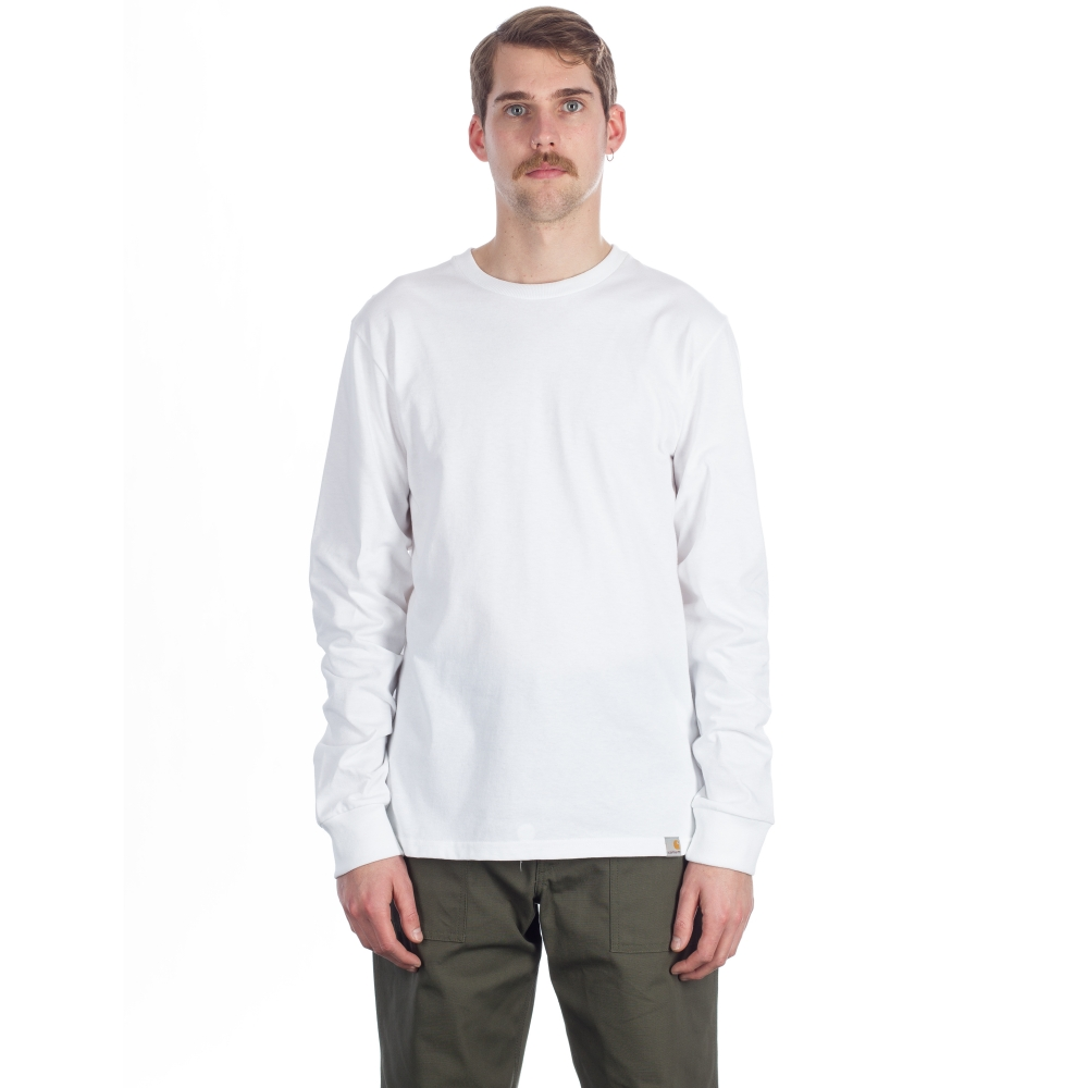 Carhartt tony long sleeve t shirt white consortium for Carhartt long sleeve t shirts white