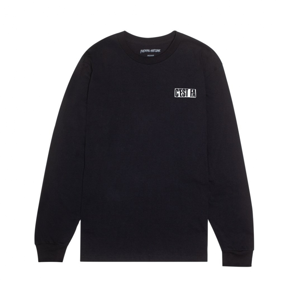 Fucking Awesome C'EST FA Long Sleeve T-Shirt (Black)