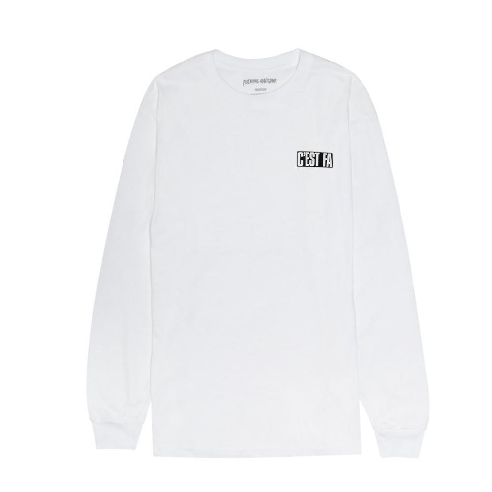 Fucking Awesome C'EST FA Long Sleeve T-Shirt (White)