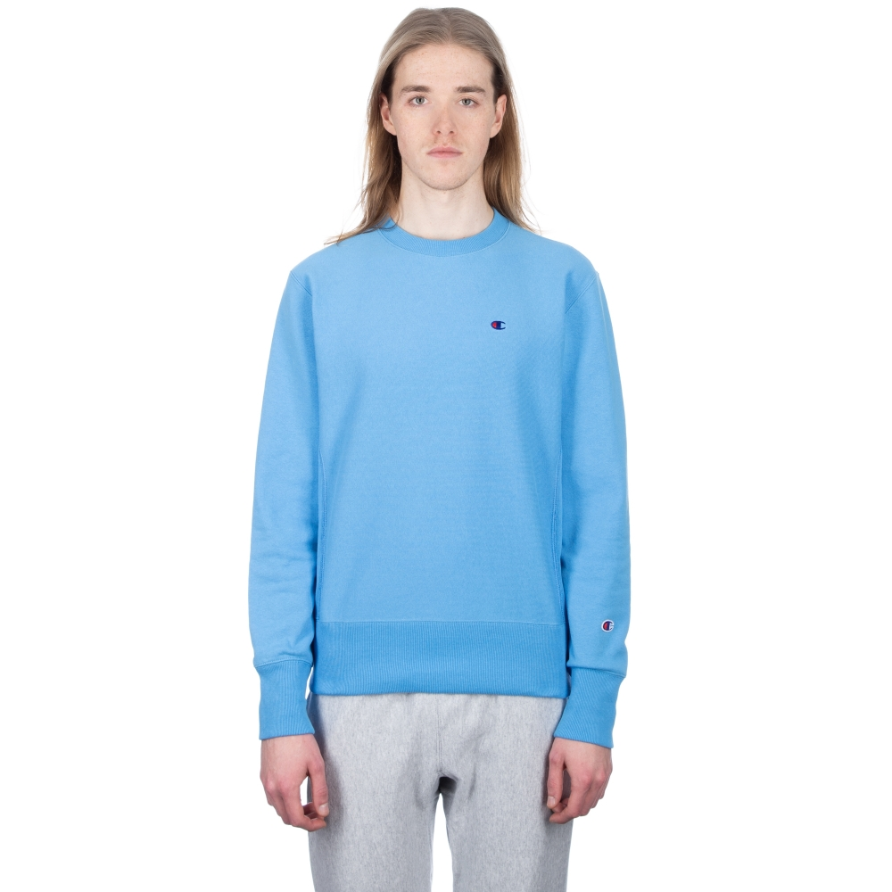 Champion Reverse Weave Crew Neck Sweatshirt (Sky Blue)