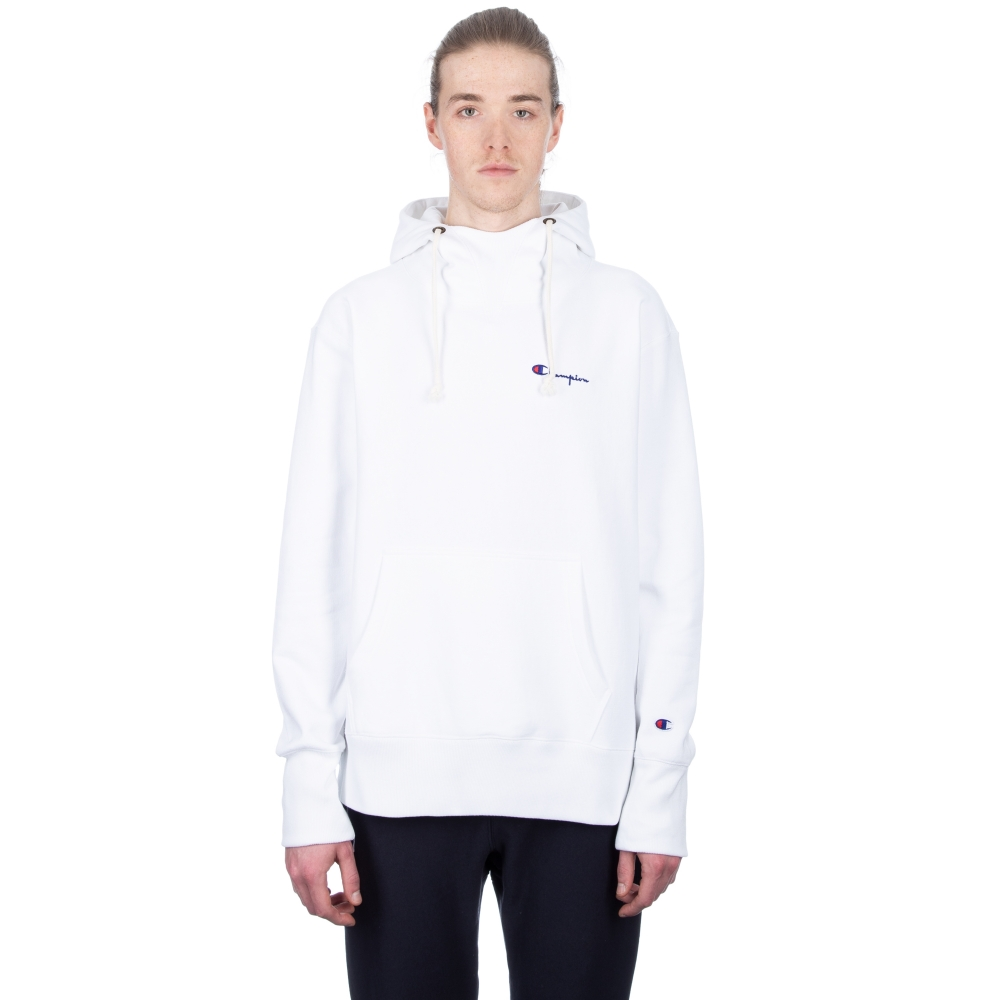 Champion Reverse Weave Deconstructed Pullover Hooded Sweatshirt (White)