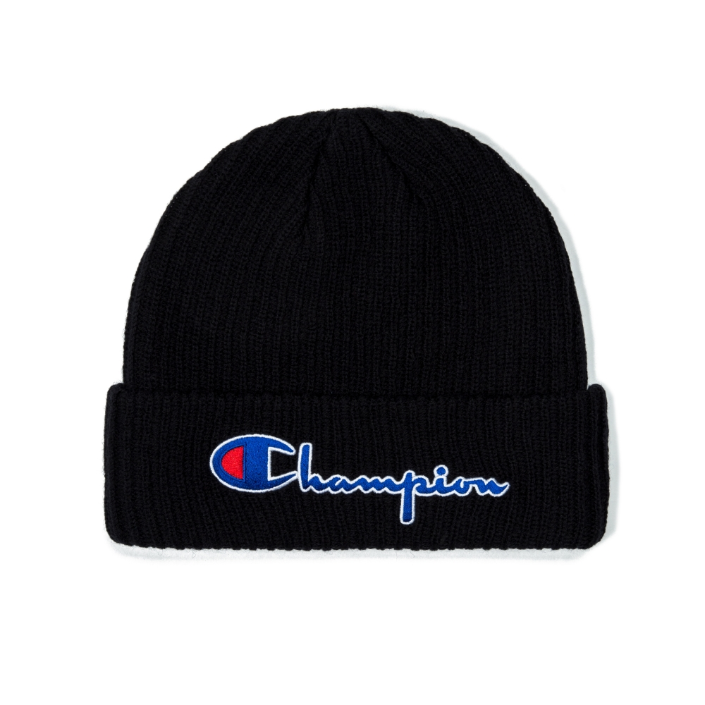 Champion Reverse Weave Script Applique Beanie (Black)