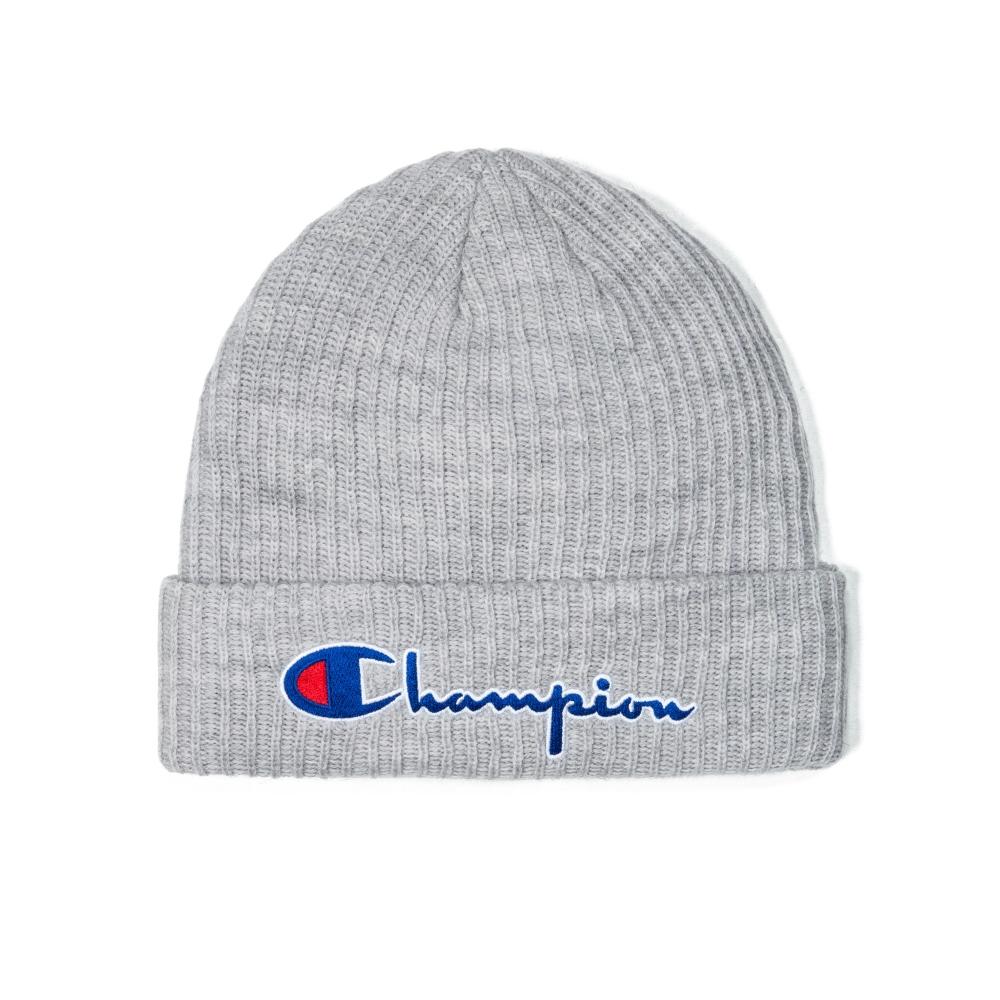 Champion Reverse Weave Script Applique Beanie (Light Oxford Grey)