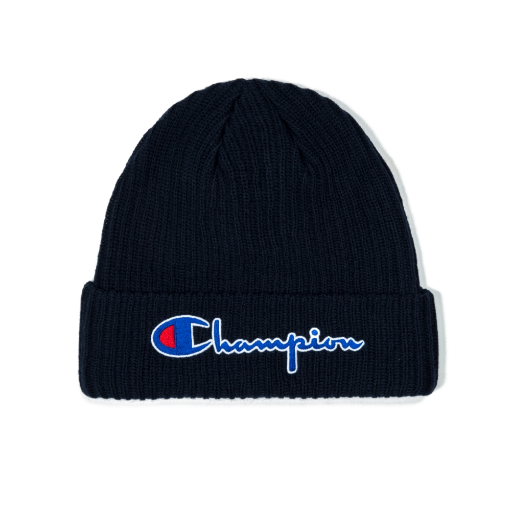 Champion Reverse Weave Script Applique Beanie (Navy)