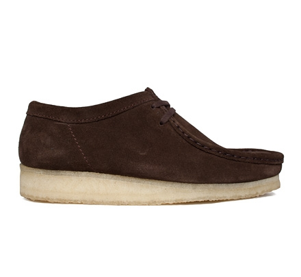 Clarks Originals Wallabee (Dark Brown Suede)