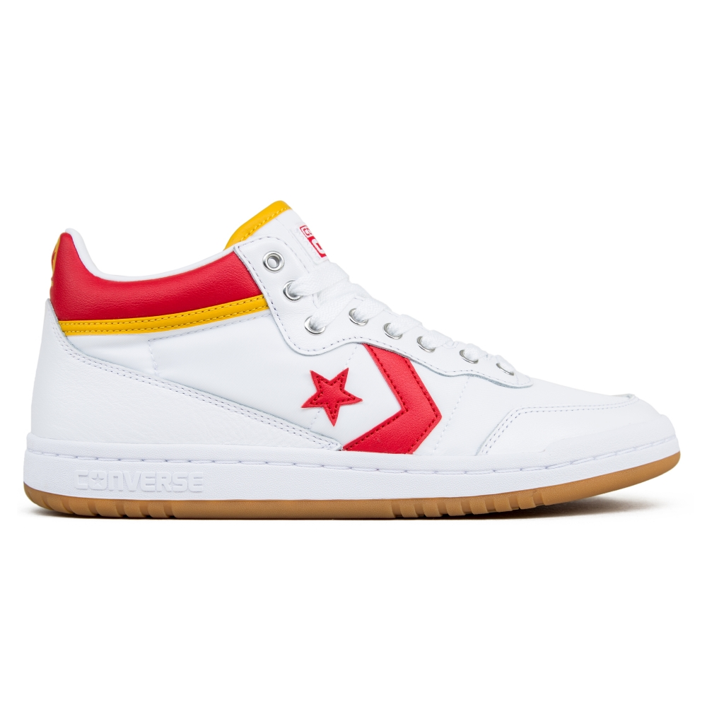 Converse Cons Fastbreak Pro Mid (White/Enamel Red/Mineral Yellow)