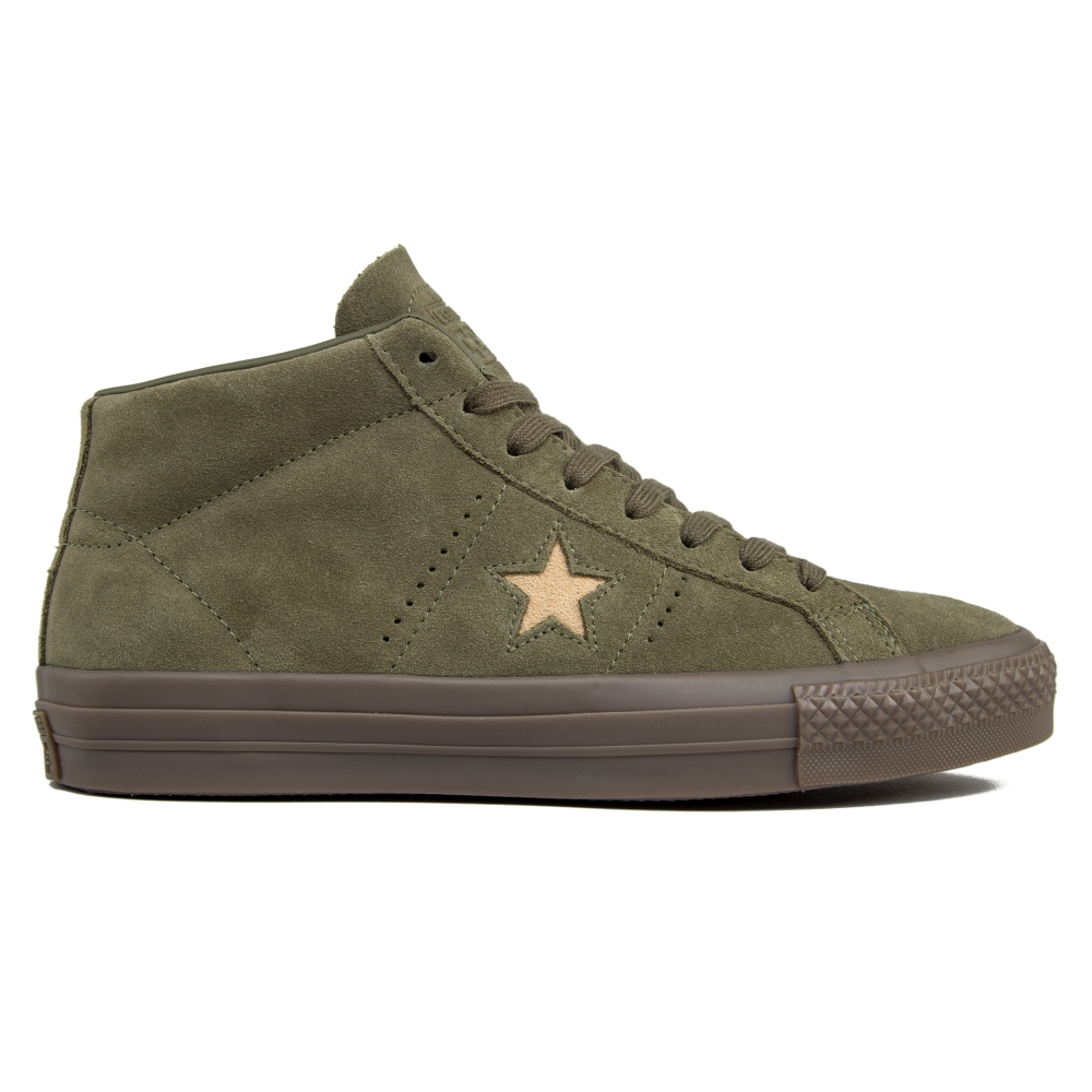 Converse Cons One Star Pro Mid (Medium Olive/Light Fawn)