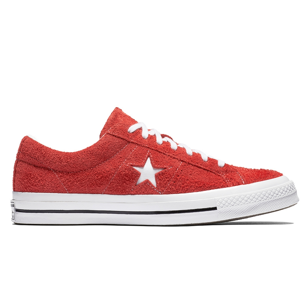 Converse One Star OX Premium Suede (Red/White/White)