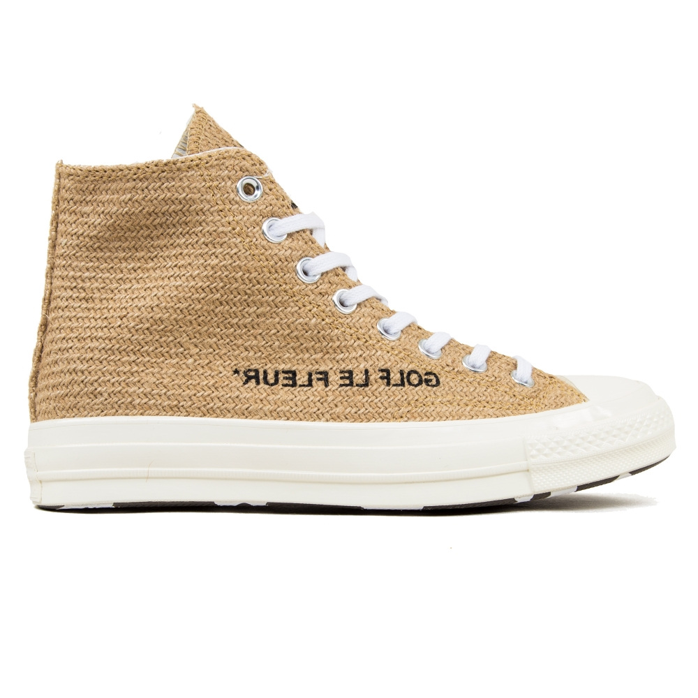 Converse x Golf Le Fleur All Star Chuck Taylor 70 Hi 'Burlap' (Curry/Egret/Black)