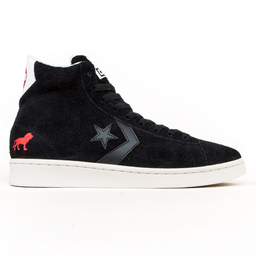 Converse Cons x Hopps Pro Leather Mid (Black/White/Egret)