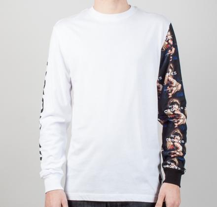 Crooks & Castles Bandit Long Sleeve T-Shirt (White)