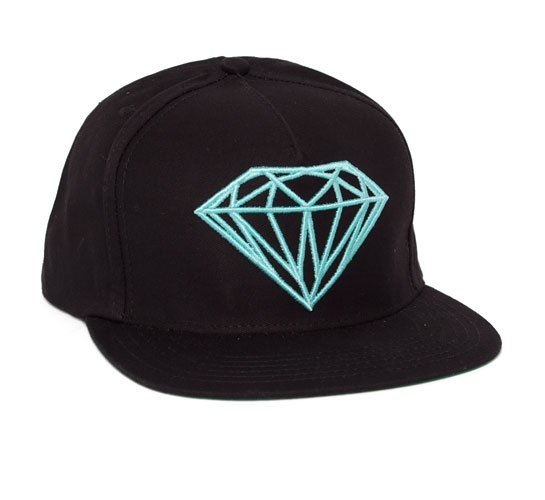 37d22853c2a ... reduced diamond supply co. brilliant snapback cap black diamond blue  fb762 ed701