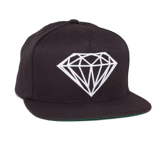 Diamond Supply Co. Brilliant Snapback Cap (Black/White)