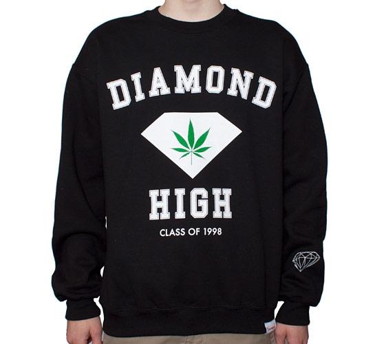 Diamond Supply Co. Diamond High Crew Neck Sweatshirt (Black)