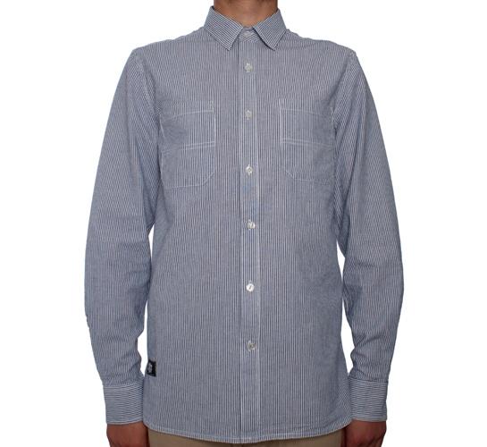 6d3b6a179b Dickies x Stussy Striped Work Shirt (Blue) - Consortium.