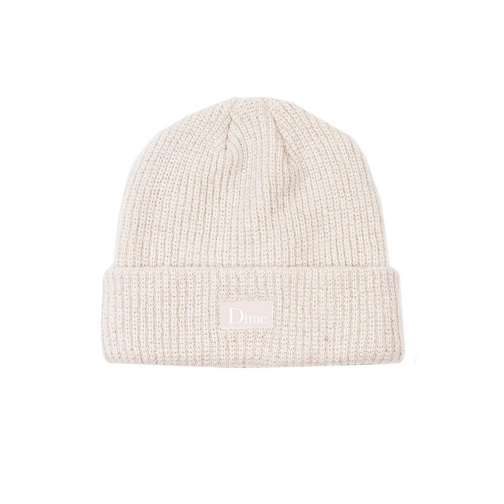 Dime Ribbed Cashmere Beanie (Cream)