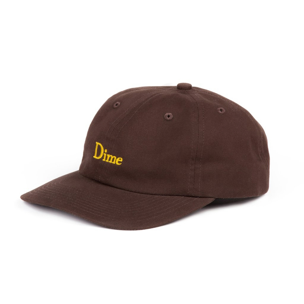 Dime Classic 6 Panel Cap (Brown)