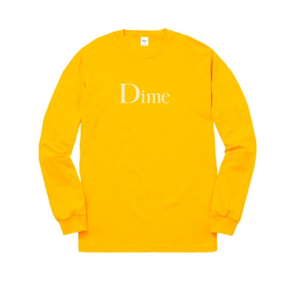Dime Classic Logo Long Sleeve T-Shirt (Gold)