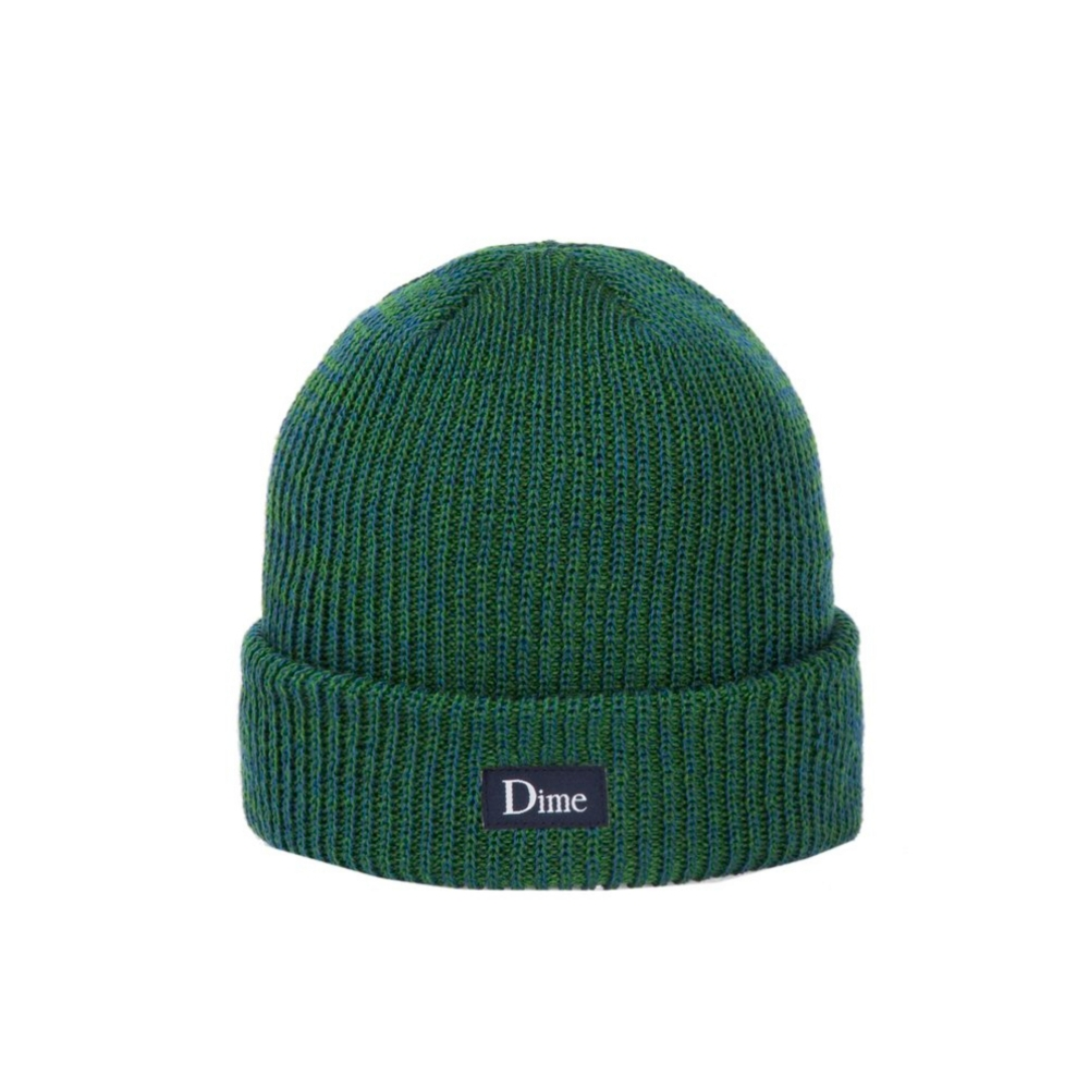 Dime Classic Logo Marled Beanie (Blue Green)
